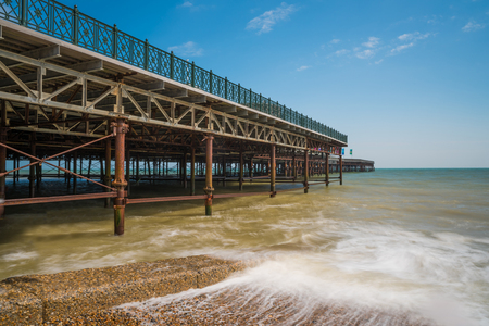 View of Hastings new pier, East Sussex, UK