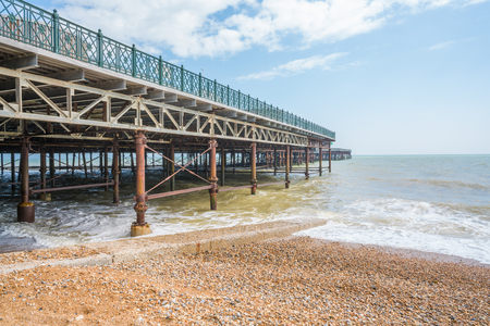 substructure: View of Hastings new pier, East Sussex, UK