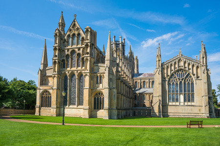 View of a Cathedral in Ely, Cambridgeshire, UK