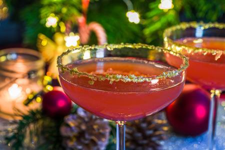 Aperol spritz with grapefruit juice. Festive cocktail idea.