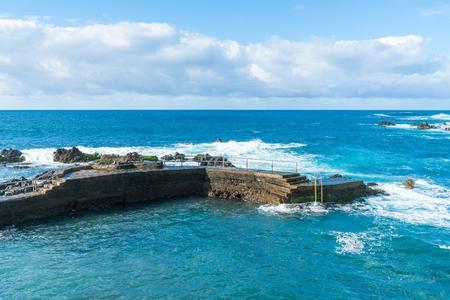 View of the coast in Puerto de la Cruz, Tenerife, Canary Islands Stock Photo
