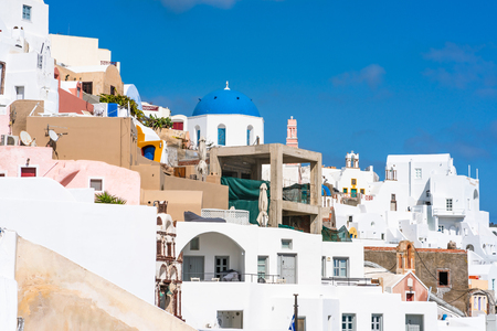 Traditional whitewashed houses in Oia, Santorini, Greece
