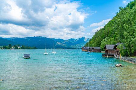 Lake St. Wolfgang in the Salzkammergut resort region, Austria
