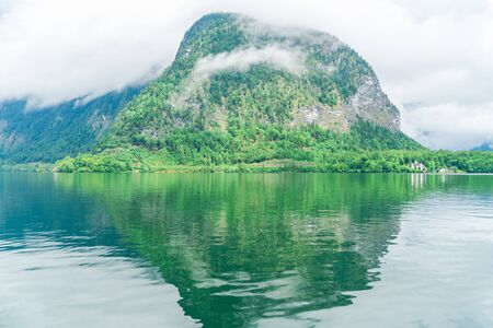 Hallstatter Lake in Salzkammergut region, Austria Stock Photo - 128573672