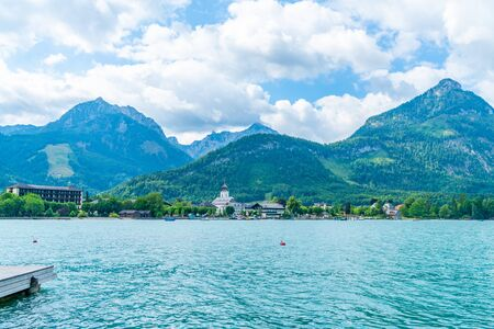 Lake St. Wolfgang in the Salzkammergut resort region, Austria