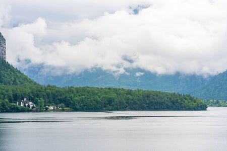 Hallstatter Lake in Salzkammergut region, Austria Stock Photo - 128573686