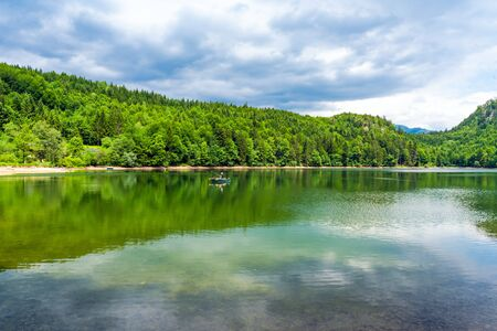 Nussensee lake in Upper Austria located near Bad Ischl in the Salzkammergut. Stock Photo - 128573520