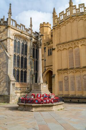 CIRENCESTER, UK - SEPTEMBER 23, 2019: Parish Church of St John the Baptist in the town centre of Cirencester in the Cotswolds, England