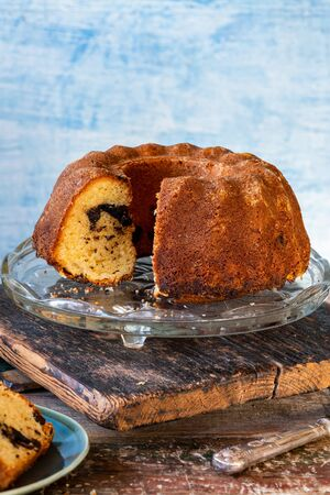 Chocolate and almond bundt cake