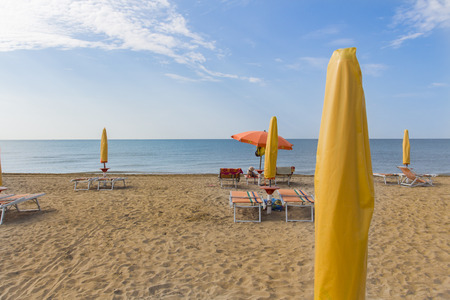 The beach in Bibione, Italy in the morning