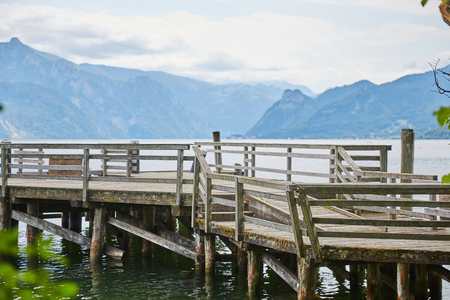 jetty at lake traunsee in Gmunden