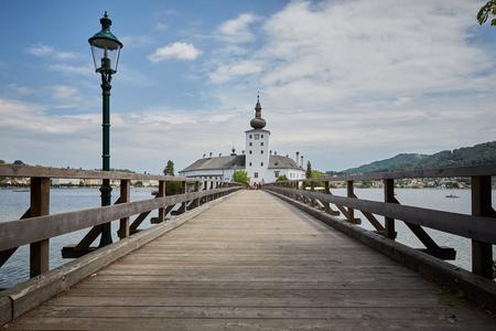 Schloss Ort in Gmunden Salzkammergut at Traunsee in Austria