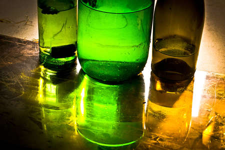 water; bottle; glass; reflection; drink; liquid; color; photo
