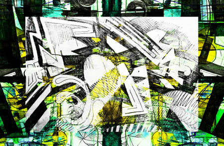 futurism: expressive abstract Stock Photo