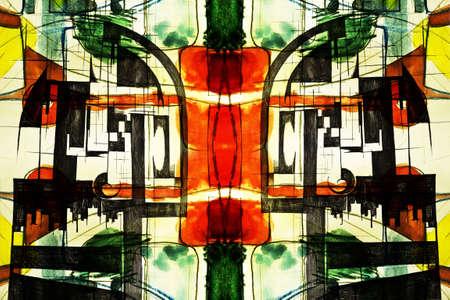 constructivism: expressive abstract Stock Photo