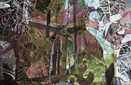 kandinsky: expressive abstract Stock Photo