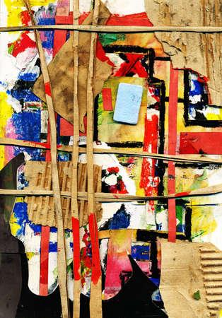 ameba: Collage abstracta,