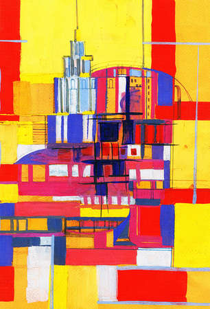 expressional: abstract- city