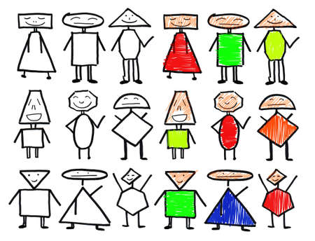 Design of abstract characters photo