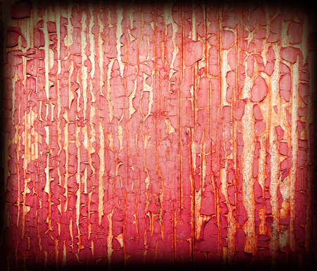 Peeling off paint on wood photo