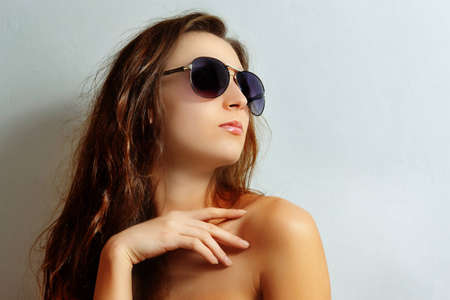 Girls in sun glasses photo