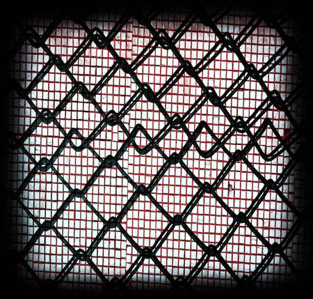 covering cells:  metallic grate wall Stock Photo