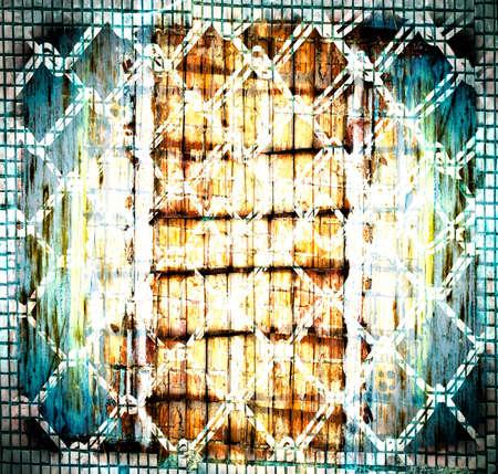 metallic grate.wall photo