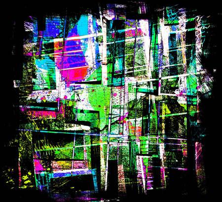 ameba: Collage abstracto