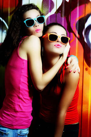fashionable girls photo