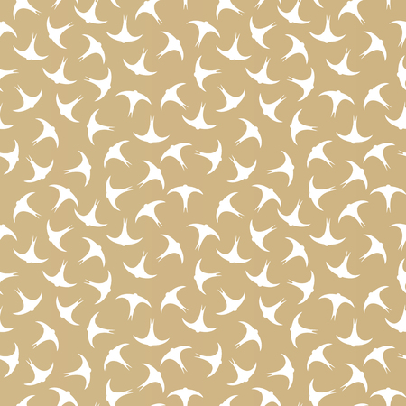 Vector seamless background with swifts for textiles, textures and web designs