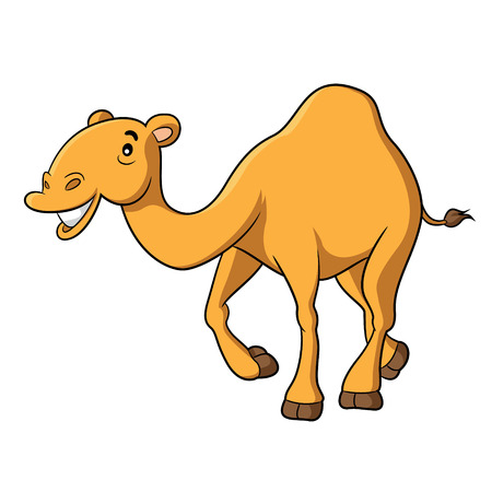 Illustration of cute cartoon camel Illustration
