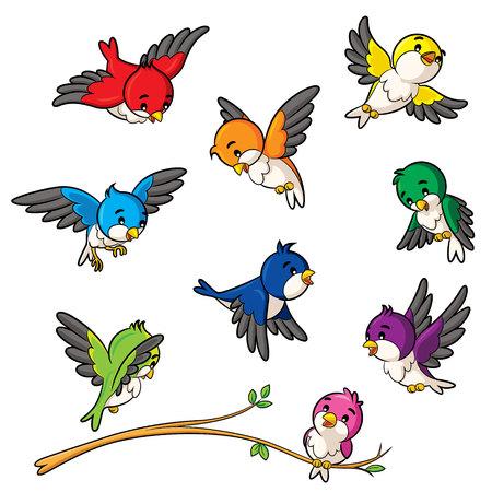 brisk: Illustration of birds. Illustration