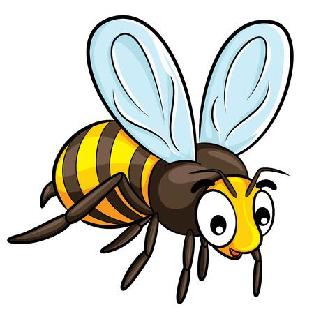 pollinate: Illustration of cute cartoon bee.