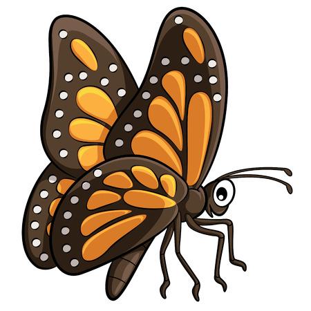 cartoon butterfly: Illustration of cute cartoon butterfly. Vectores