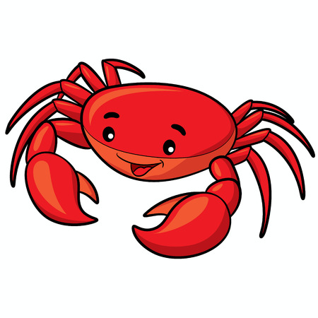 Illustration of cute cartoon crab. Stok Fotoğraf - 47494018