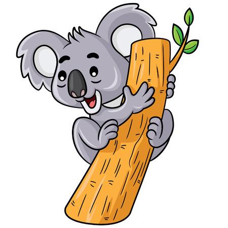 line art: Ilustraci�n de koala lindo de la historieta.