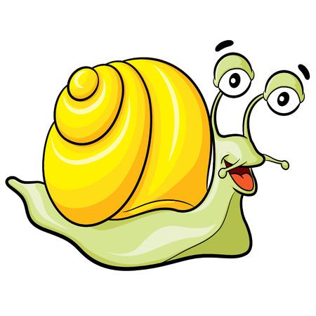 dna smile: Illustration of cute cartoon snail. Illustration
