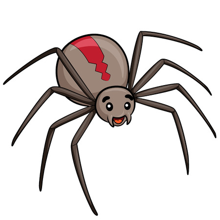 Illustration of cute cartoon spider.