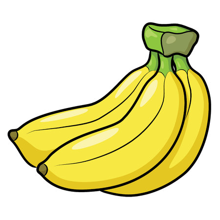 Illustration of cute cartoon banana. Ilustração
