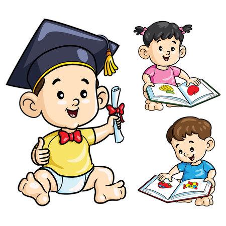 Smart Baby Cartoon Imagens - 111756497