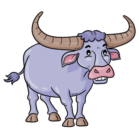 Buffalo Cute Cartoon