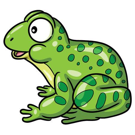 Frog Cute Cartoon Ilustrace