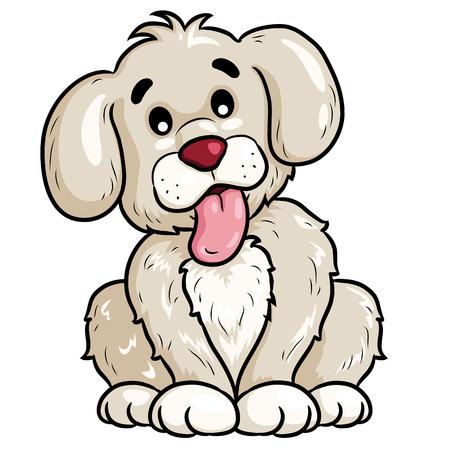 Dog Cute Cartoon Ilustrace