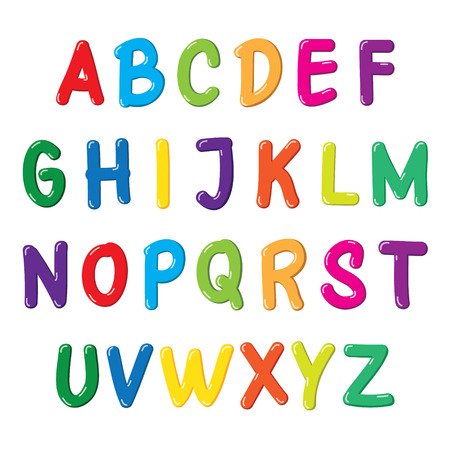 Colorful font for kids. Imagens - 111756536