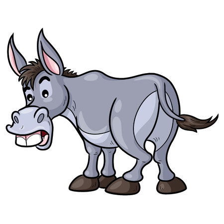 Esel-Cartoon-Abbildung
