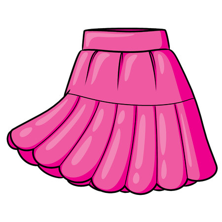 Skirt Cartoon 免版税图像 - 117626940