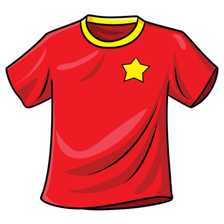 T-shirt Cartoon Zdjęcie Seryjne - 117626941