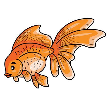 Goldfish Cute Cartoon