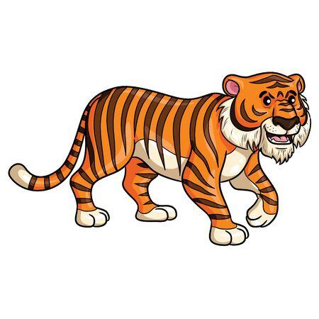 Tiger Walk Cartoon Banque d'images - 125671628