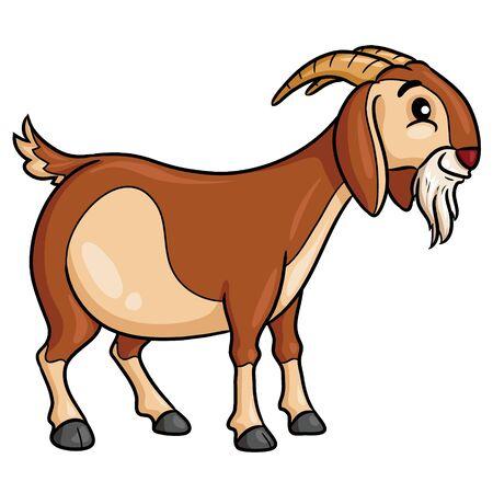 Goat Cartoon Style